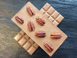 Vollmilch Schokolade 35% mit gerösteten Pekannüssen- 95 Gramm