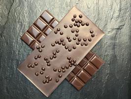 Zartbitter Schokolade 55% mit knusprigen Schokoladenperlen - 95 Gramm