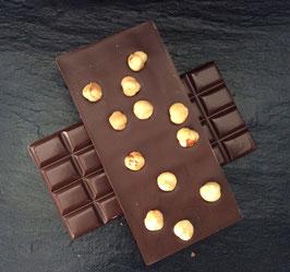 Zartbitter Schokolade 55% mit Piemonteser Haselnüssen  - 95 Gramm