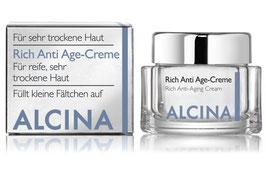 Alcina Rich Anti-Age Gesichtscreme für trockene, reife Haut 50ml