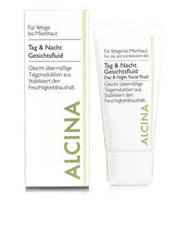 Alcina Tag- & Nachtfluid, für fettige/ Mischhaut 50ml