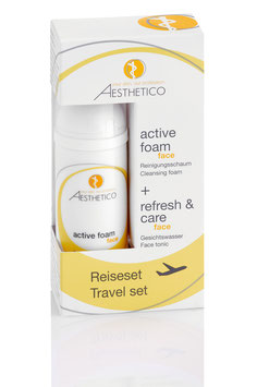AESTHETICO active foam + refresh & care Reiseset