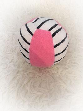 "Stoffball ""streifn rosa"""