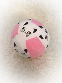 "Stoffball ""katze rosa"""