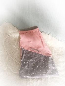 "Stoffbeutel ""rosa grau sterne"""