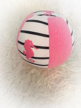 """Stoffball """"seepferdchen pink weiß"""""""