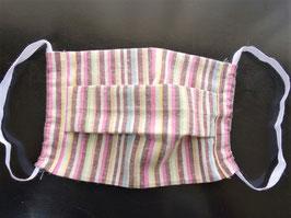 商品名 ❷遠州織物マスク 手縫いキット「花畑」 綿100%
