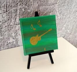 Gitarre, grün-silber