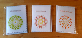 """3er Set Karten """"Herzlichen Glückwunsch"""""""