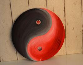 Yin Yang, rot-schwarz 5/18
