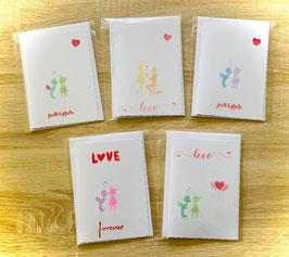 """3er Kartenset """"Liebe"""""""