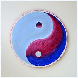 Yin Yang, magenta-tiefblau-eisblau 45/19