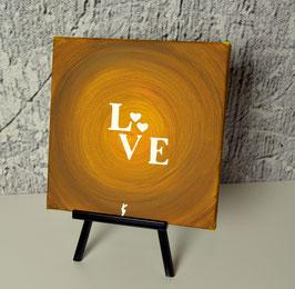 Love, gelb-braun-silber 25/19