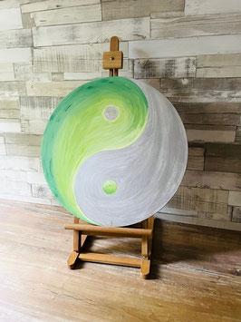 Yin Yang, grün-silber 93/18