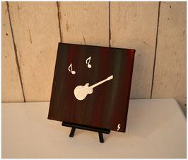 Gitarre, magenta-silber 47/18