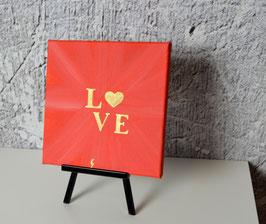 Love, erdbeerrot-gold 28/19