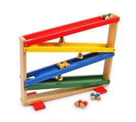 Glockenbahn, Fahrzeuge-Autos auf Kugelbahnen, Holzspielzeug