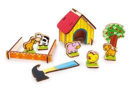 """3D """"Farm"""", Puzzle Bauernhöfe-Zubehör, Spielzeug aus Holz"""