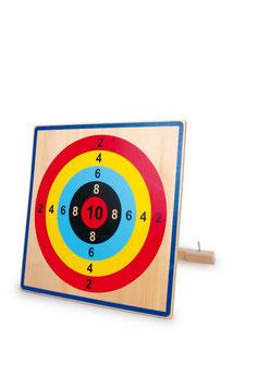 Zielscheibe als Gartenspielzeug Outdoor, aus stabilem Schichtholz, Holzspielzeug