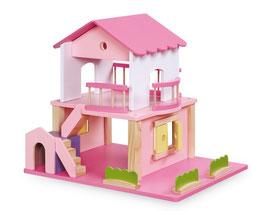 Puppenhaus, pink, Puppenhäuser u. Zubehör, Kinderzimmermöbel u. Zubehör, Holzspielzeug