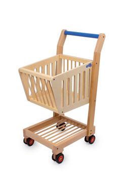 Einkaufswagen, natur, Kaufläden u. Zubehör, Kinder-Holzspielsachen