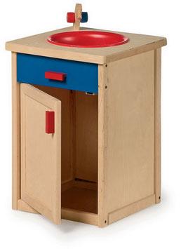 Küchenspüle, für Küchen u. Zubehör, Holzspielzeug für Kinder-Köche