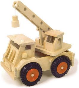 Kranwagen, Fahrzeuge-Autos zum Bauen u. Konstruieren, Holzspielzeug für Konstrukteure und Baumeister