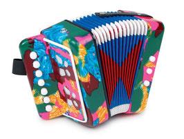Akkordeon Multicolor, Musikinstrument für den kleinen Seemann - Schifferklavier