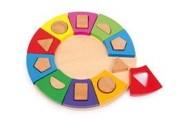 Steck-Kreis, Motorik Spielzeug, Kinder-Holzspielsachen