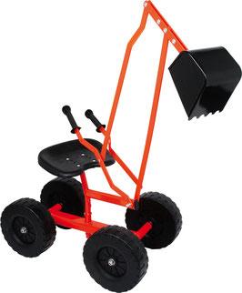 Bagger mit Rädern, Outdoor-Spielzeug für den Garten und für Kinderbaustellen