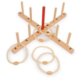 Ringwurfspiel mit Tasche, Spielen u. Spaß, Gartenspielzeug / Outdoor, Holzspielzeug