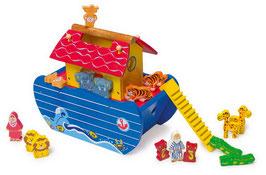 Noahs Arche 18-teilig, Schiffe-Zubehör, Holzspielzeug