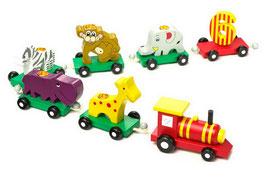 Geburtstagssafari, Kindergeburtstag mit Eisenbahnen, Holzspielzeug