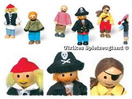 """Biegepüppchen """"Piraten"""" als Schiffsbesatzung, Piraten-Mannschaft  auf den Weltmeeren, Schiffe-Zubehör"""