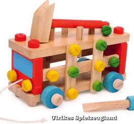 Holz Konstruktionsauto, Bauen u. Konstruieren, Kinder-Holzspielzeug, Werkbänke u. Werkzeug