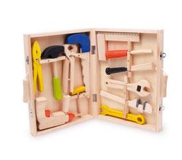 Kinder-Werkzeugkoffer, Werkbänke u. Werkzeug, Kinder-Holzspielsachen