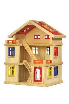 """Puppenhaus """"Deluxe"""", Puppenhäuser u. Zubehör, Kinderzimmermöbel u. Zubehör, Holzspielzeug"""