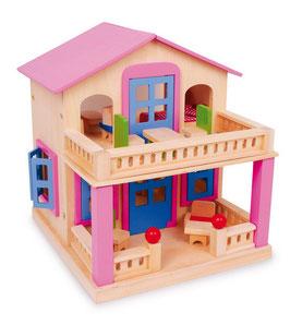 """Puppenhaus """"Clara"""", Puppenhäuser u. Zubehör, Kinderzimmermöbel u. Zubehör, Holzspielzeug"""
