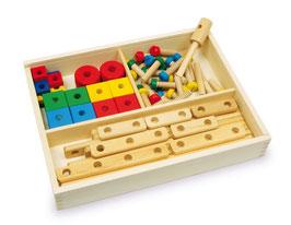 "Konstruktionsbox ""Sebastian"", Bauen u. Konstruieren mit bunten Holzelementen"