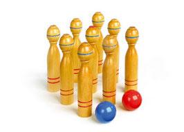 Kegelspiel, groß, Spielen u. Spaß Outdoor, Gartenspielzeug und fürs Kinderzimmer
