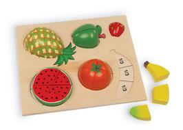 """Puzzle """"Früchte teilen"""", Lernartikel, Kinder-Holzspielzeug"""