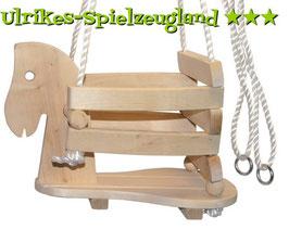 Holz-Pferdeschaukel / Innen- u. Außenbereich