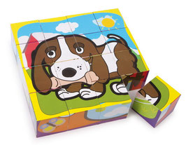 "Würfelpuzzle ""Haustiere, Puzzle"