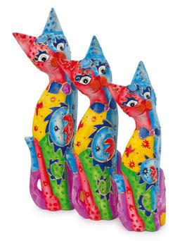 Deko-Katzenfamilie, Geschenke-Dekoration