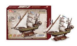 """3D Segelschiff """"Mystic"""" aus dem 18. Jahrhundert, Schiffe-Zubehör, Puzzle-Spaß für Seefahrer"""