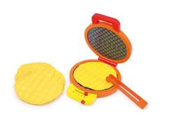 """Waffeleisen """"Leonie"""", für Küchen u. Zubehör, Holzspielzeug für kleine Kinder-Köche"""