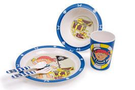 Frühstücks-Set -Schatzsuche- für kleine Piraten, Schiffe-Zubehör, Küchen u Zubehör