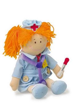 """Puppen """"Berufe"""" Krankenschwester, Feuerwehrmann, Bauarbeiter - Stoffpuppen"""
