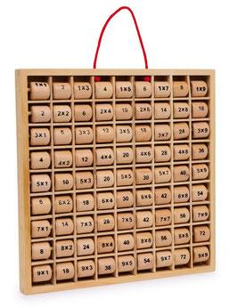 """Multiplizier-Tabelle """"Rio"""", Lernartikel für das kleine Einmaleins, Lern-Holzspielzeug"""