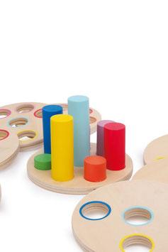 Logisteck, Lernartikel, Motorik Spielzeug, Kinder-Holzspielsachen